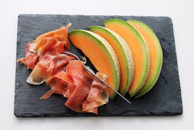 Can you name the type of Italian ham pictured in the photo? (image)