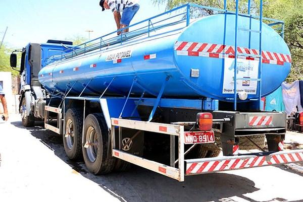 Governo do RN cadastra caminhões-pipa para operação de combate à seca
