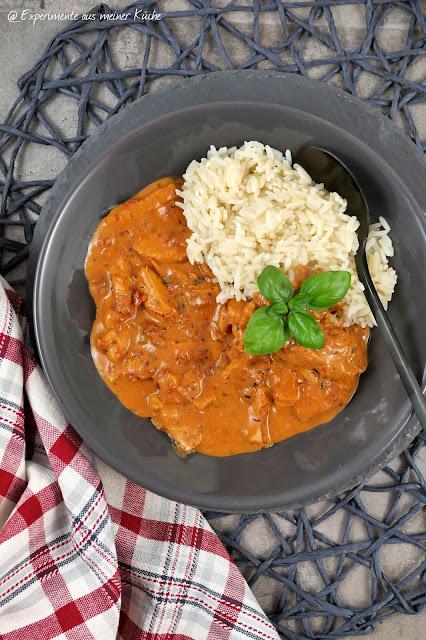 Hähnchenfilets in Tomaten-Frischkäse-Soße | Rezept | Essen | Kochen | Weight Watchers