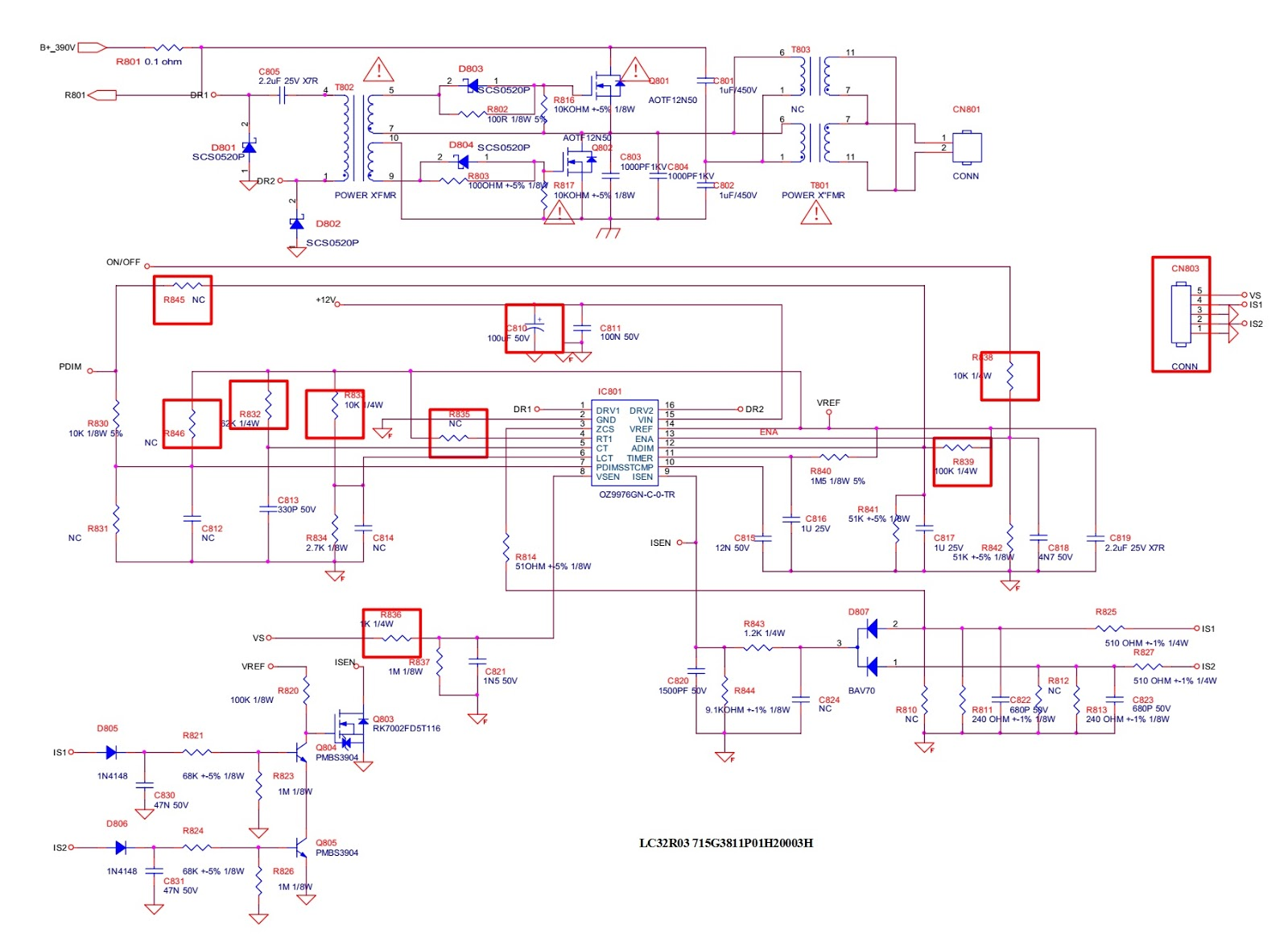 Electro Help  Aoc Lc32r03 And Aoc Lc42r03 Lcd Tv Smps Circuit Diagram