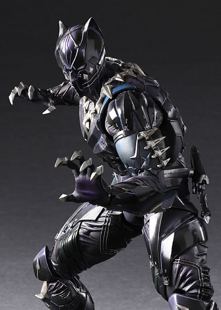 osw.zone Square Enix PlayArts Kai MARVEL UNIVERSE Variant 1 / 7. Scale Black Panther Action Figure