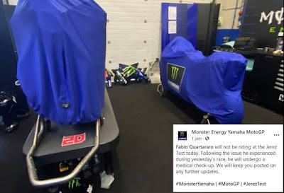 Fabio Quartararo Tidak Tes Jerez Hari Ini, Imbas Performa Drop Kemarin ??