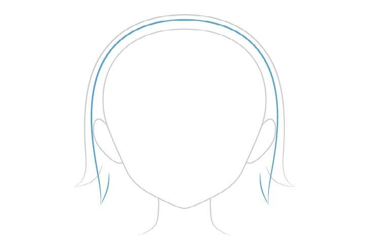 Gambar rambut basah vs kering anime atas