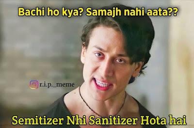 tiger shroff bachi ho kya samajh nahi aata memes