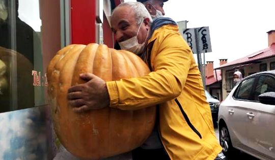 Interesting competition from the Artvin operator Giant squash will present its weight to those who know