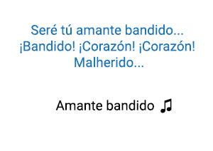 Miguel Bosé Amante Bandido significado de la canción.