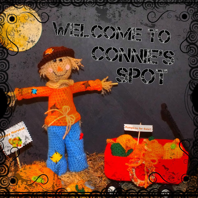 Harvest Scarecrow with Wagon & Harvest Wreath Pattern© By Connie Hughes Designs©