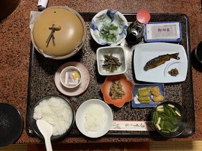 福島屋旅館の朝食