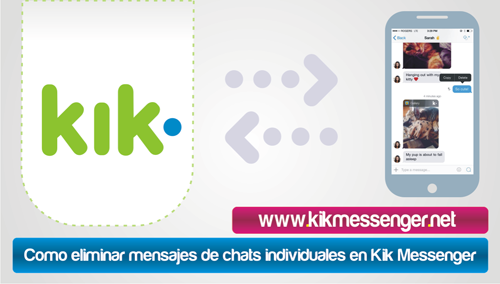 Como eliminar mensajes de chats individuales en Kik Messenger