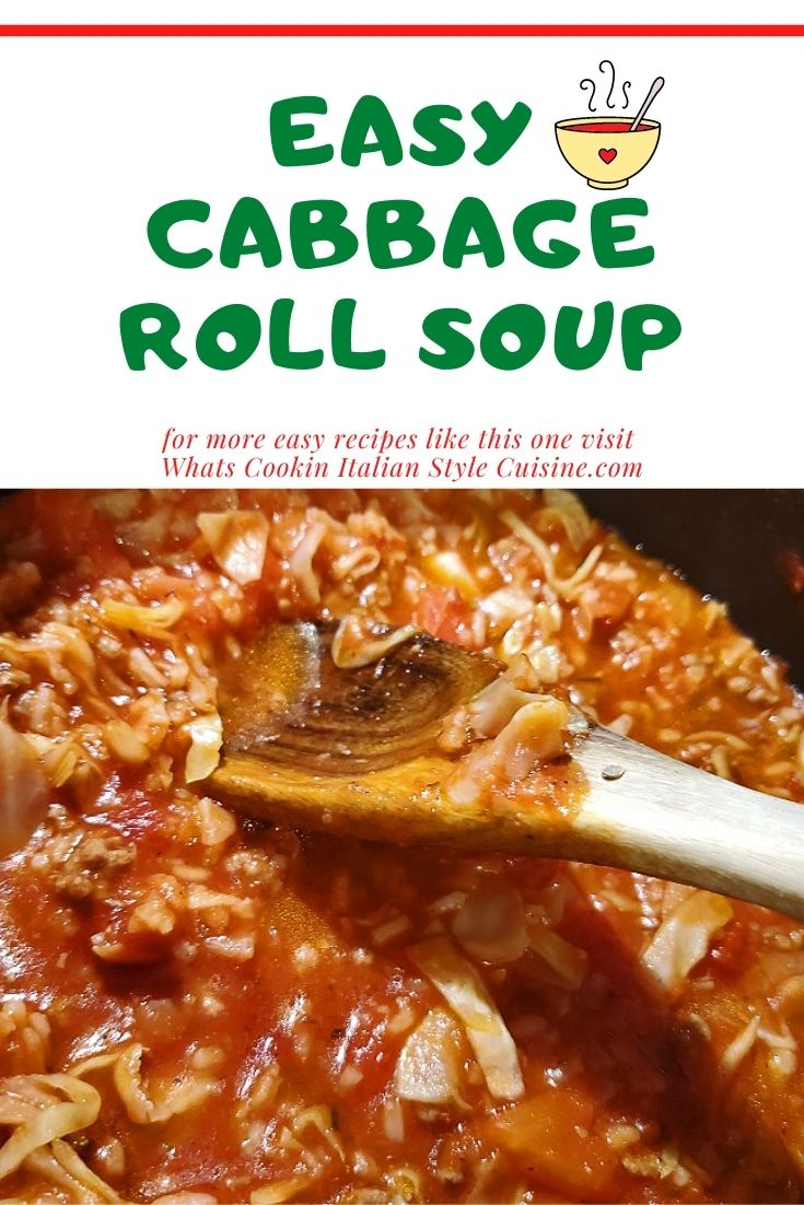 this is a pin for later on how to make cabbage roll soup
