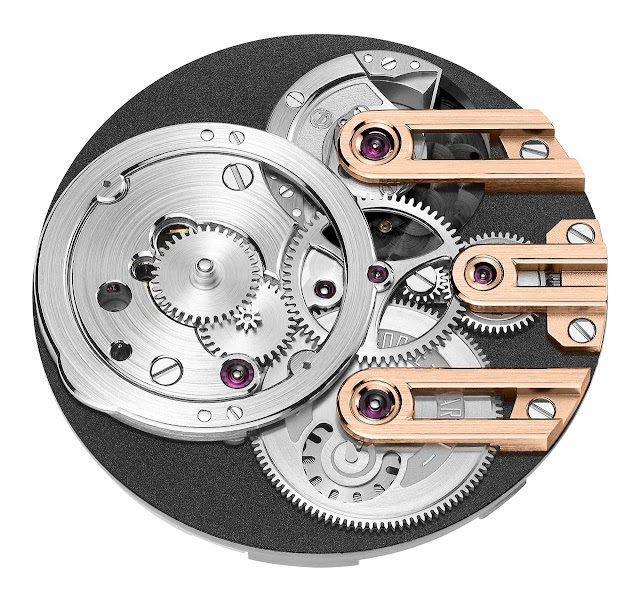 Armin Strom Gravity Equal Force in rose gold, the Calibre ASB19