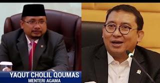"Menag Yaqut Ditantang Fadli Zon Debat Terbuka terkait Pernyataannya ""Memerangi Populisme Islam"""