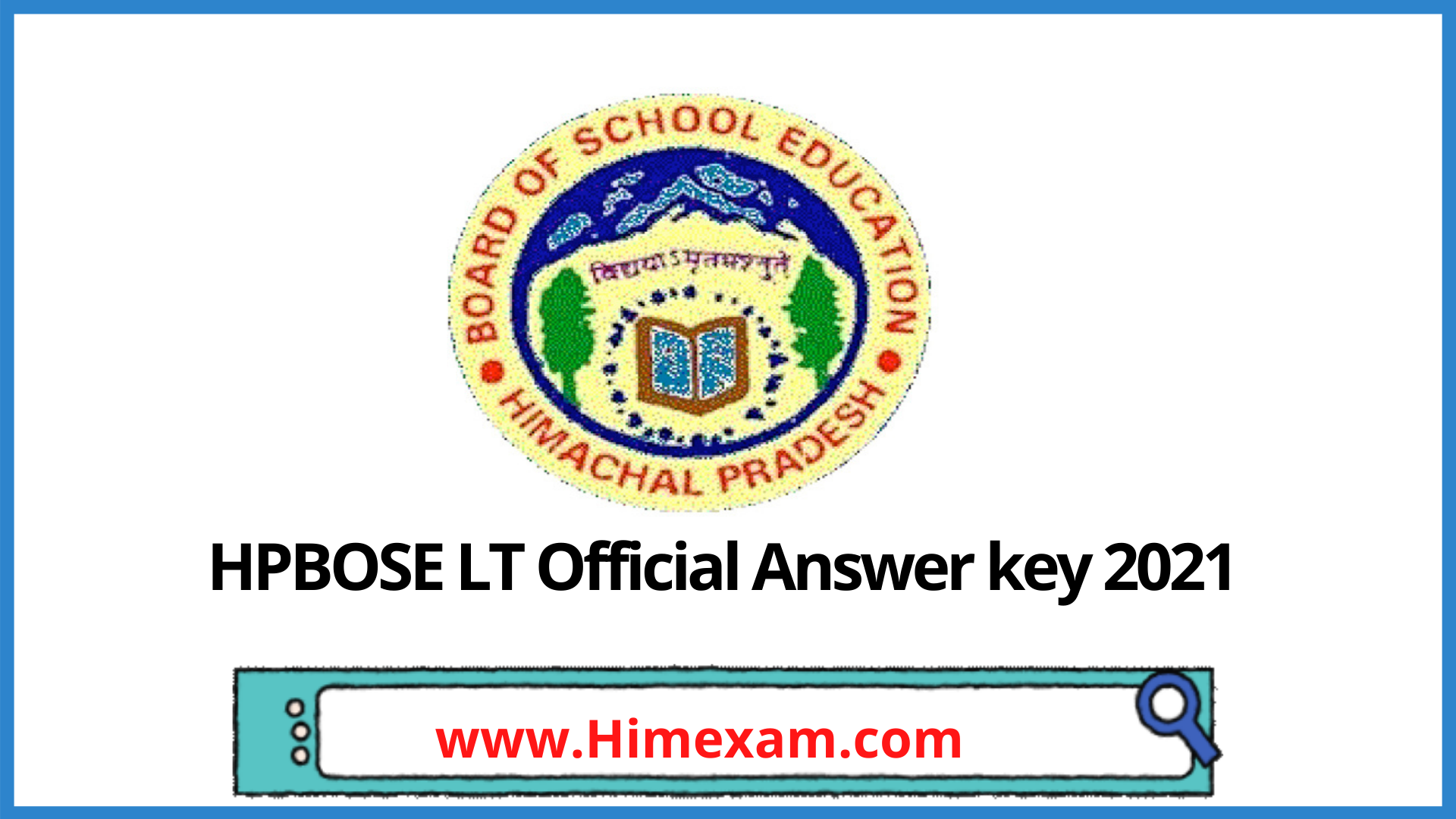 HPBOSE LT Official Answer key 2021