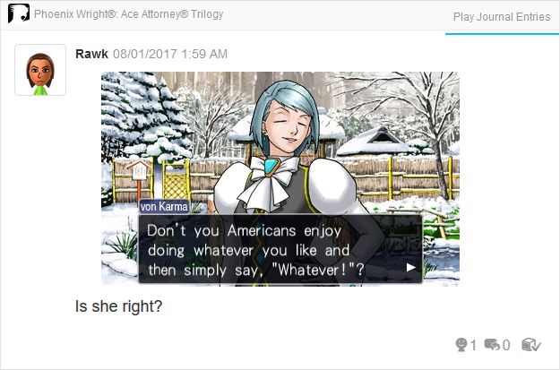 Phoenix Wright Ace Attorney Trials and Tribulations Franziska von Karma Americans whatever