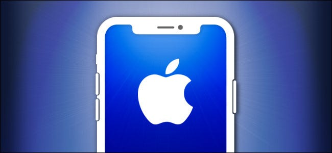 مخطط iPhone مع شعار Apple