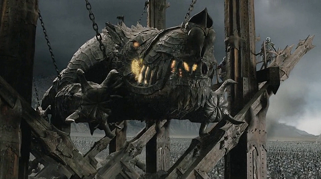 Battering ram Grond in the movie The Return of the King