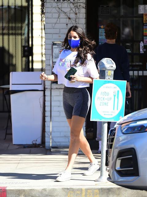 Eiza Gonzalez – In shorts leaving a gym in West Hollywood