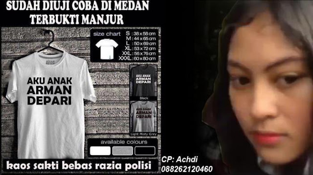 Kaus Oblong 'Aku Anak Arman Depari' Dijual di Medan