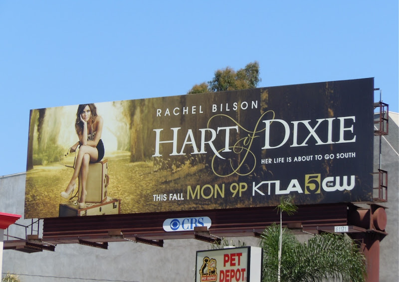 Rachel Bilson Hart of Dixie billboard