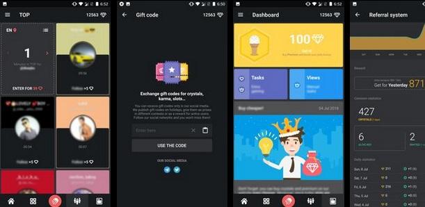 تطبيق Hiketop لزيادة متابعي الانسقرام