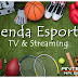 Agenda esportiva da Tv  e Streaming, quinta, 22/07/2021