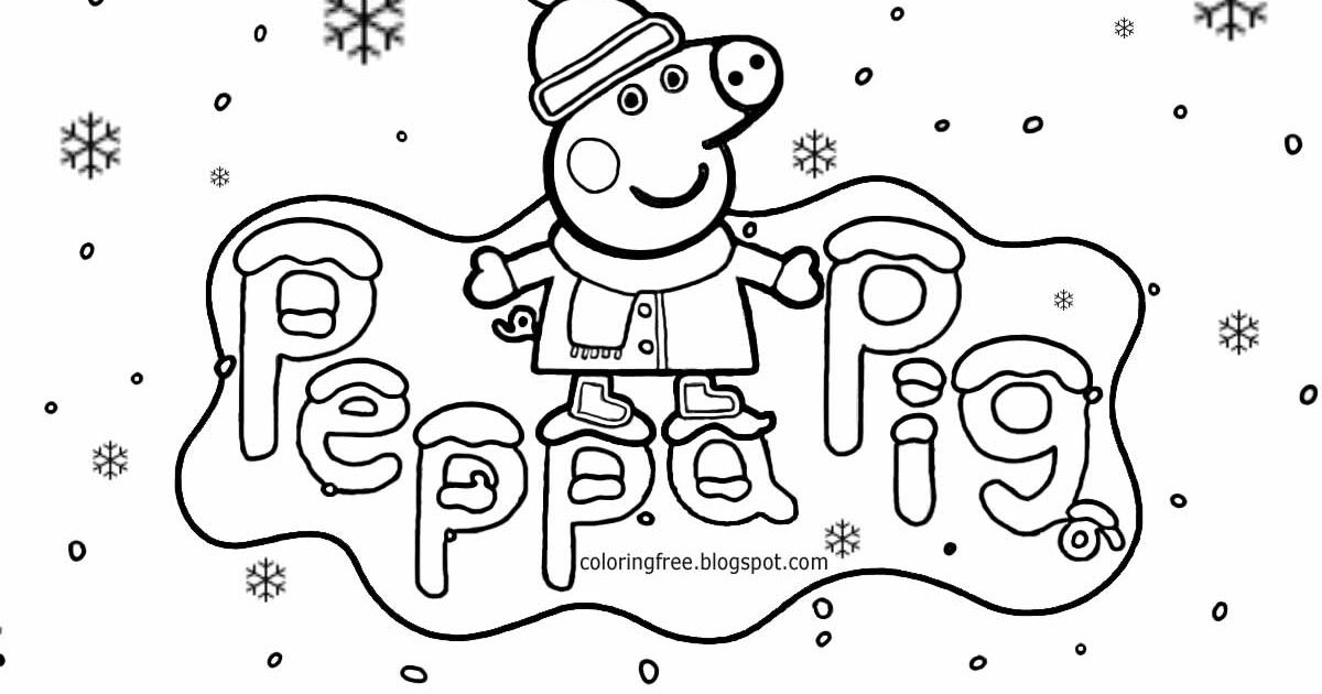 Free coloring pages printable pictures to color kids drawing ideas christmas peppa pig coloring pages winter easy printable cartoons