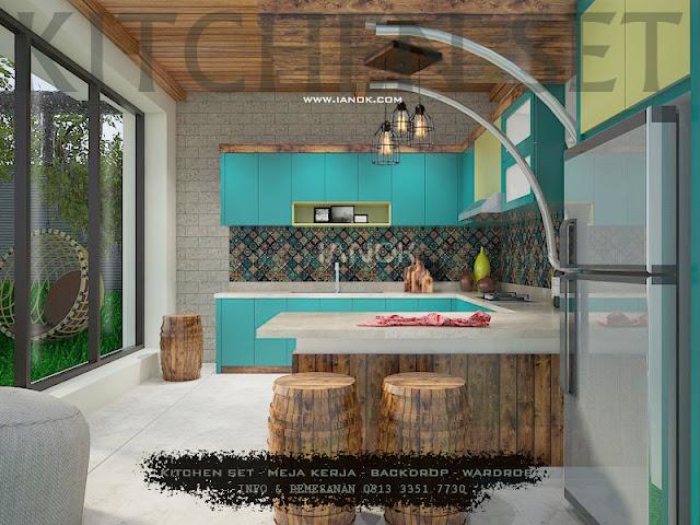 Kitchen set Biru surabaya