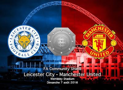 Man Utd Vs Leicester City 7 Ogos 2016