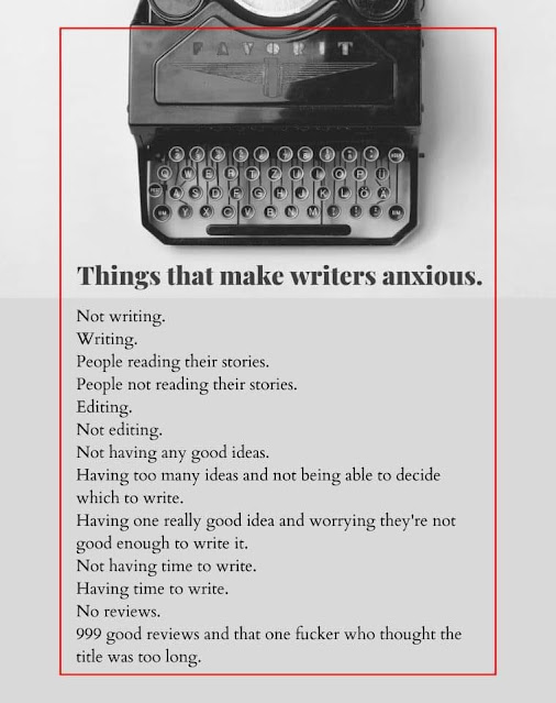 Things that make writers anxious