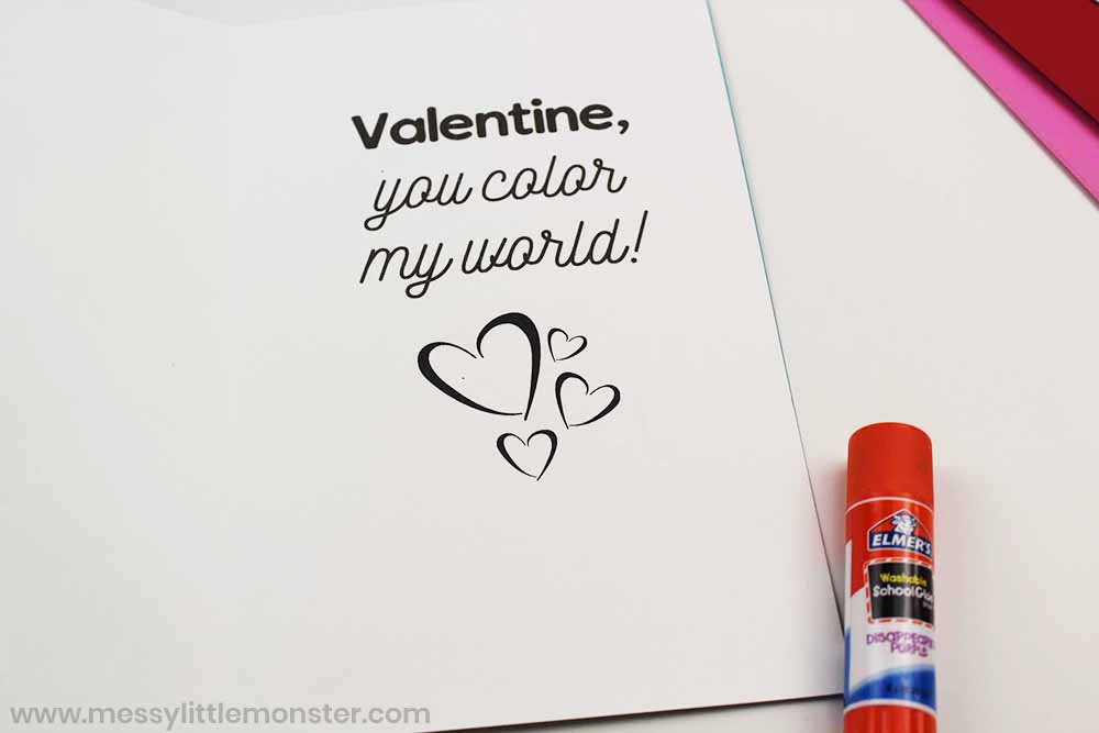 printable valentine heart card