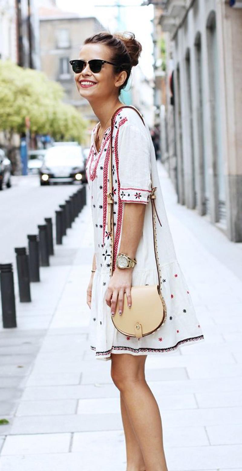 boho pattern dress