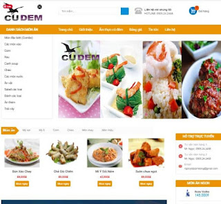 Giao diện Web bán đồ ăn - Theme Blogspot - Blogspotdep.com