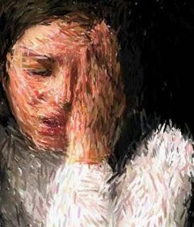 Pintura sofrimento feminino
