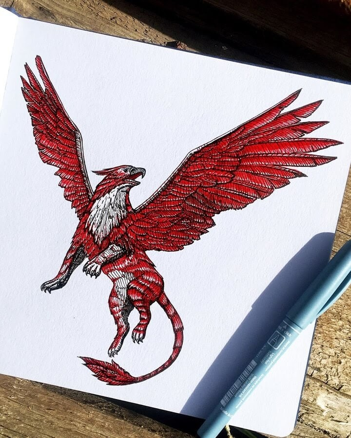 11-Red-Gryphon-Papa-Nory-www-designstack-co
