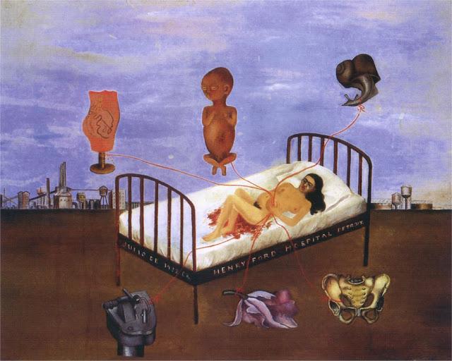 Фрида Кало - Больница Генри Форда (летающая кровать). 1932