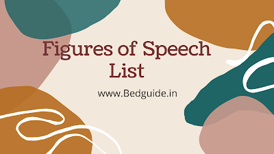 19 Important Figure of Speech For B.ed Entrance Exam