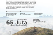 Ikuti, Writingthon Jelajah Kota Garut Total Hadiah 65 Juta