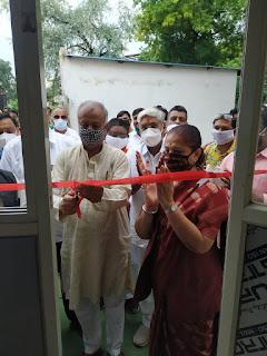 भाजपा कार्यालय में सांसद ने किया अटल स्वास्थ्य सहायता केंद्र का शुभारंभ