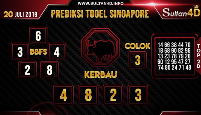 PREDIKSI TOGEL SINGAPORE SULTAN4D 20 JULI 2019