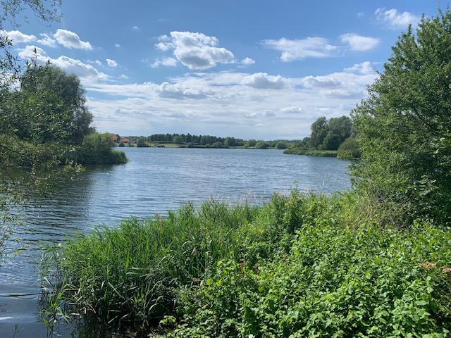 View across Caldecotte Lake, Milton Keynes