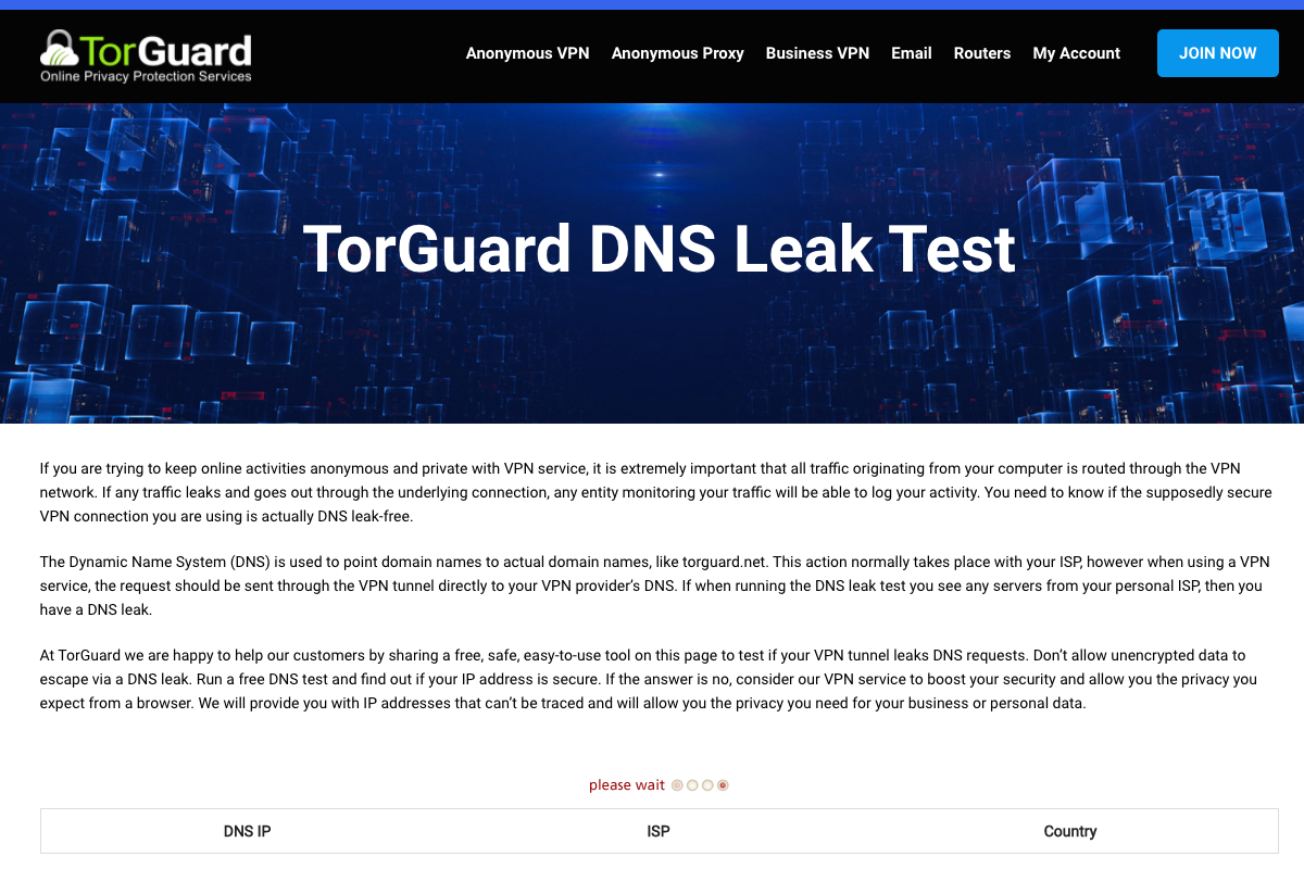 Come fare un DNS leak test