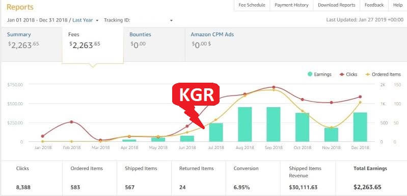 KGR case study: Amazon Affilate growth