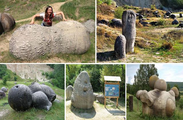 Kinh ngạc loại đá tự lớn lên, phình to ở Rumani