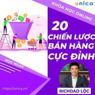 Khóa học SALE BÁN HÀNG- 20 Chiến lược bán hàng tuyệt đỉnh UNICA.VN ebook PDF EPUB AWZ3 PRC MOBI