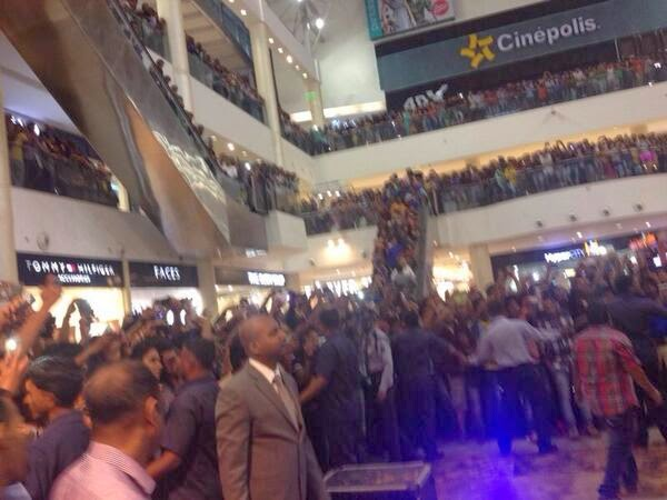 The crowd of audience and fans of Sunny Leone gathered to see live performance of Baby Doll