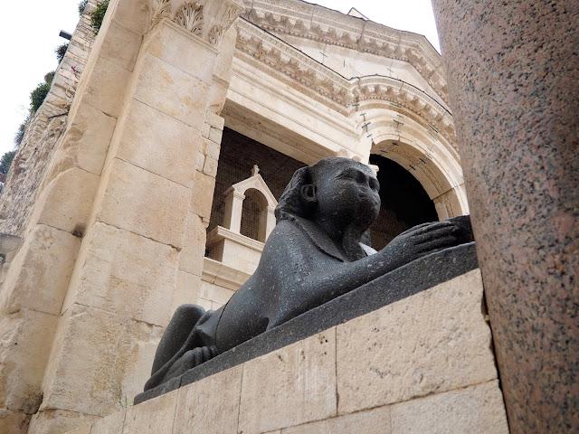 Egyptian sphinx statue, Diocletian's Palace, Split, Croatia
