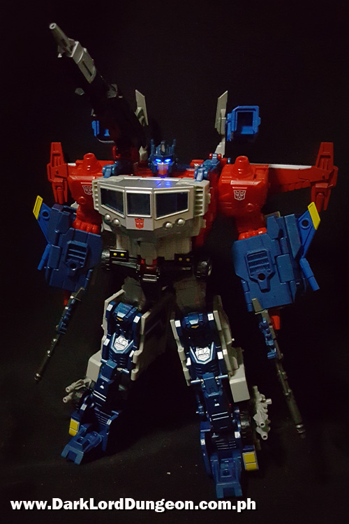Takara God Ginrai - Optimus Prime - Super Ginrai & Godbomber