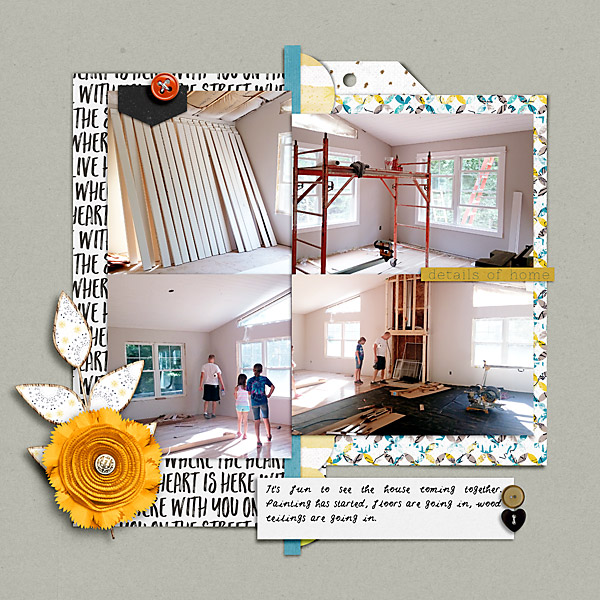 Scrapbook Page of our house being built.