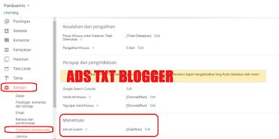 Blogger Support Ads.txt ! Berikut Pengertian dan Cara Memasangnya