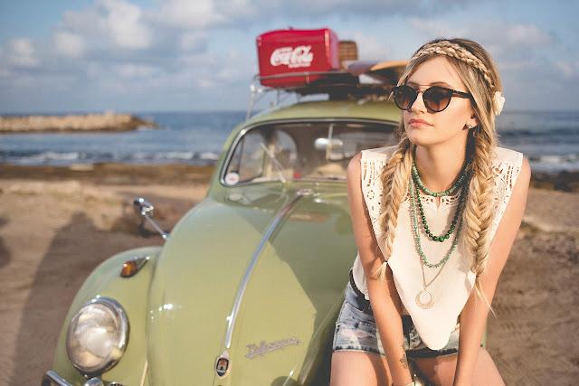 ретро авто пляж